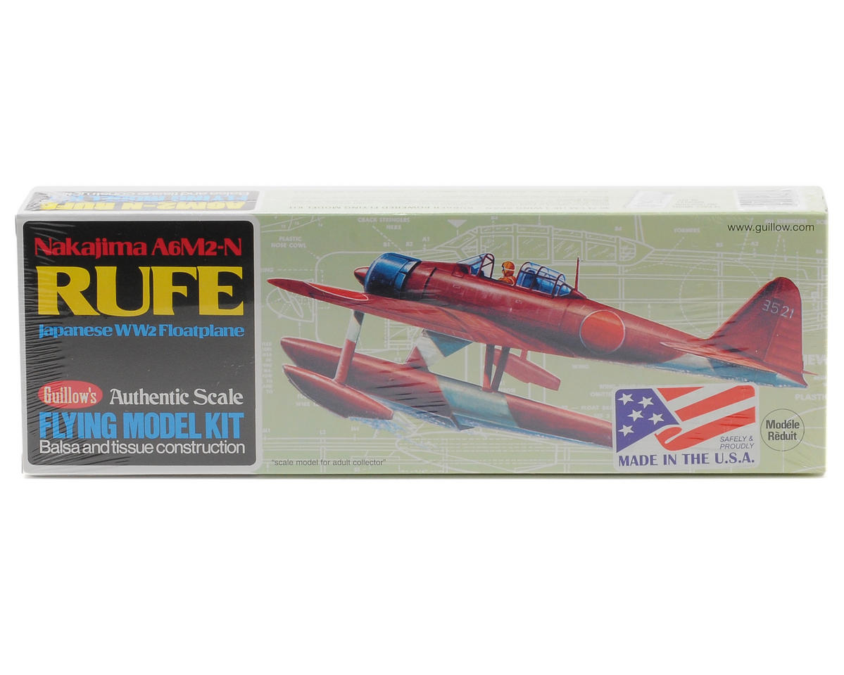 Nakajima A6M2-N Rufe Float Plane Flying Model Kit by Guillow