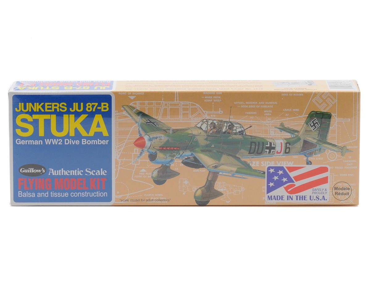 Guillow Junkers JU 87-B Stuka Flying Model Kit