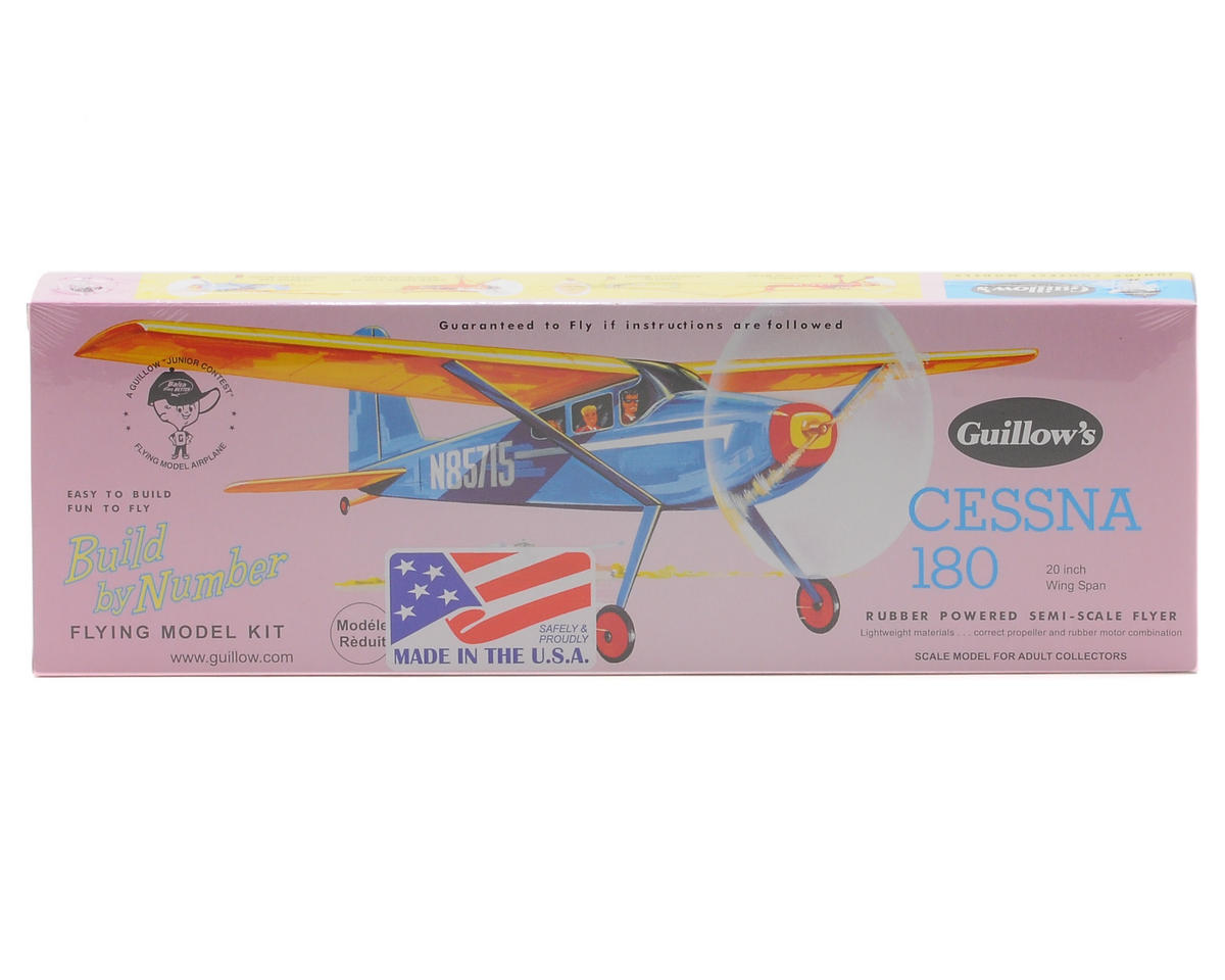Cessna 180 Rubber Powered Semi-Scale Flyer by Guillow