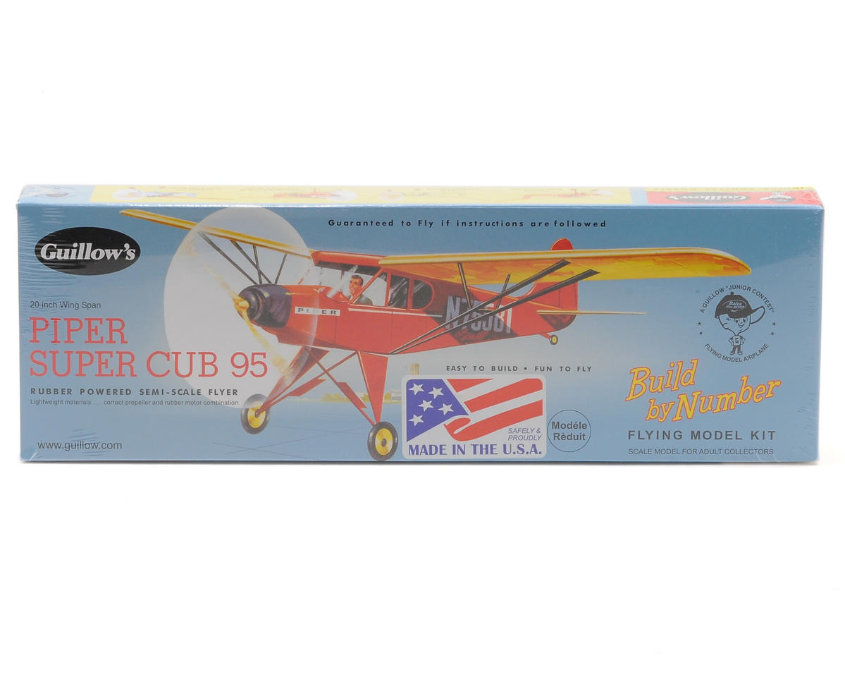 Piper Super Cub 95 Rubber Powered Semi-Scale Flyer by Guillow