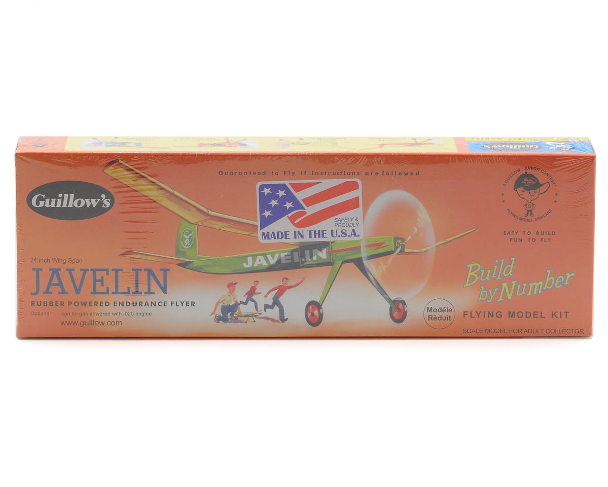 Javelin Rubber Powered Endurance Flyer by Guillow