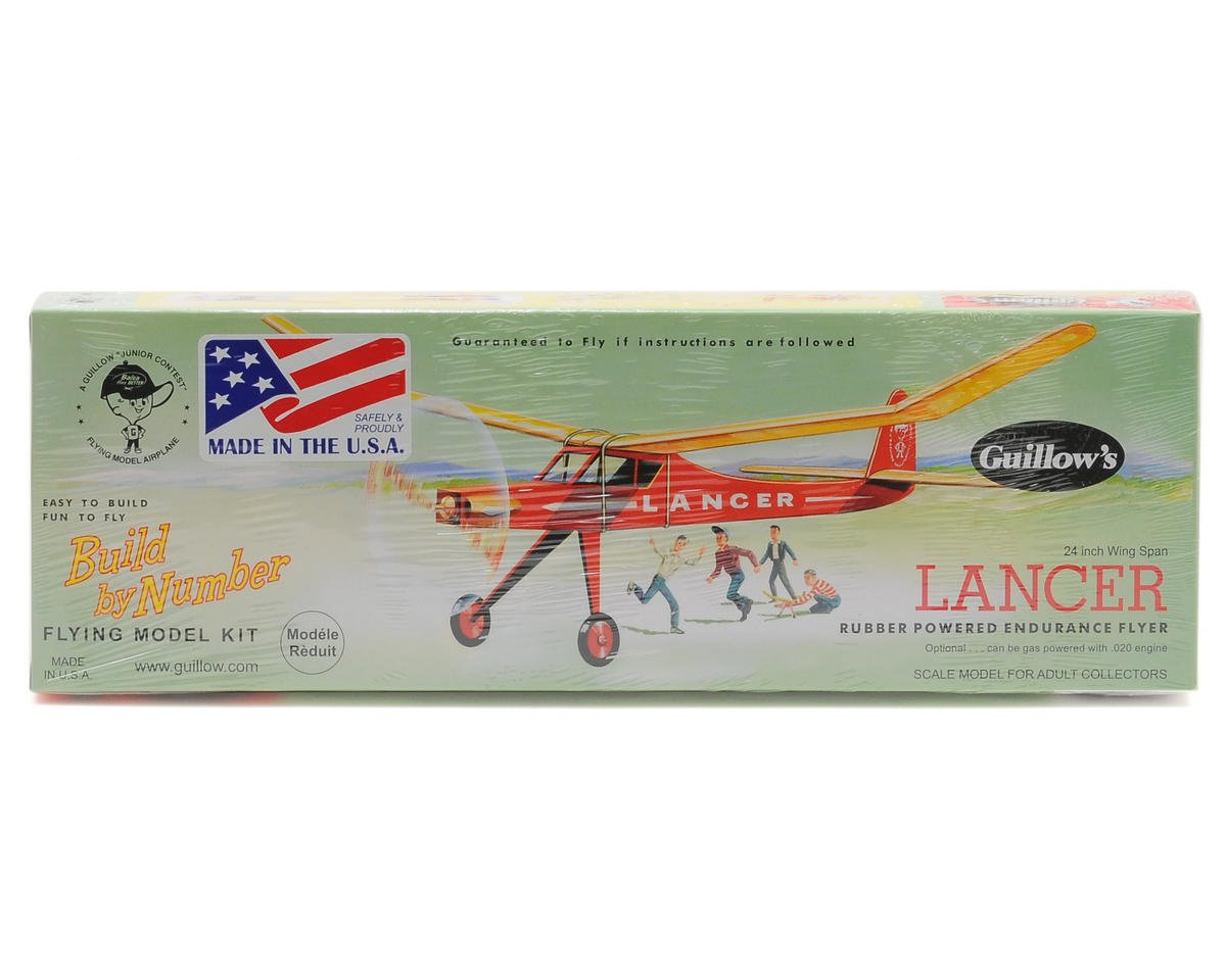 Lancer Rubber Powered Endurance Flyer by Guillow
