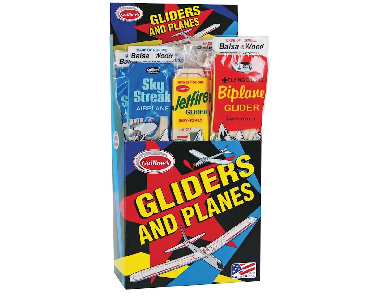 Guillow 79 Balsa Glider/Airplane Asst. Jr Combo Pack (33)