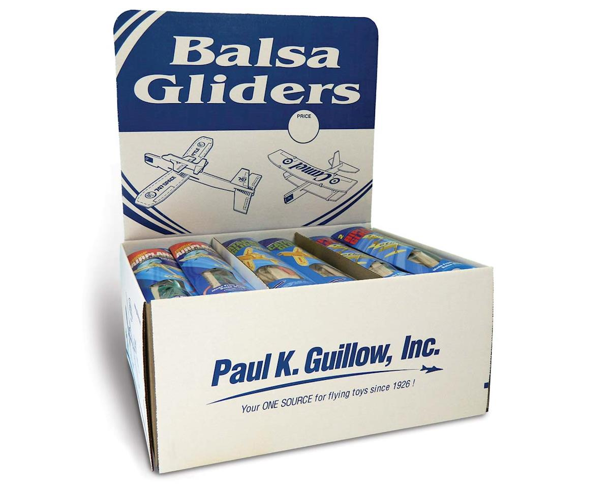 Guillow 80 Balsa Glider/Airplane Asst. Pillow Pak (36)