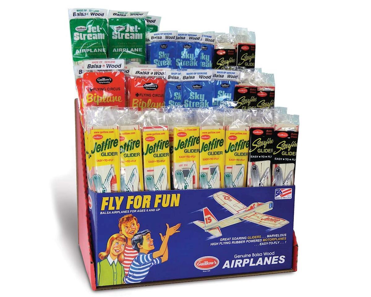 Guillow 83 Balsa Glider/Airplane Asst. Tri Pack (120)