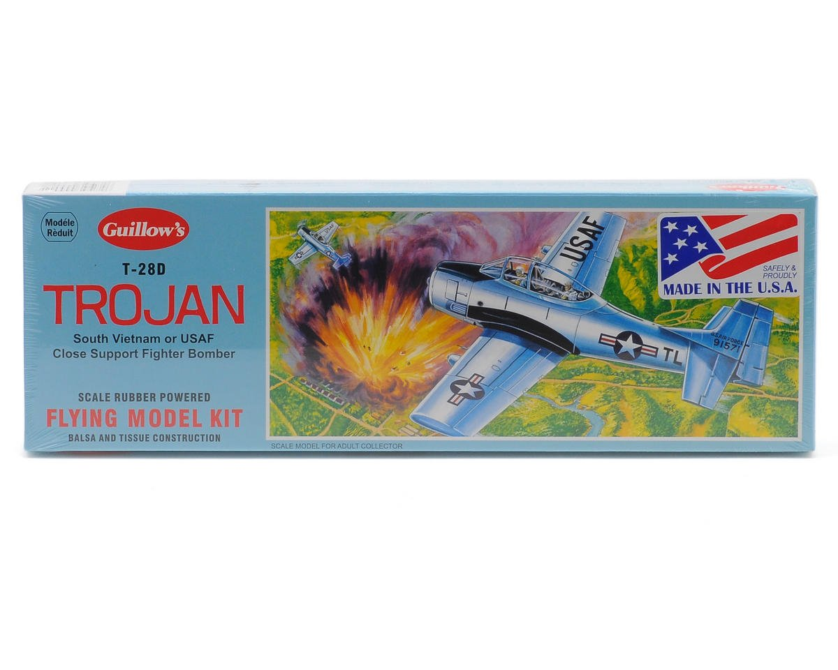 Guillow T-28D Trojan Rubber Powered Flying Model Kit