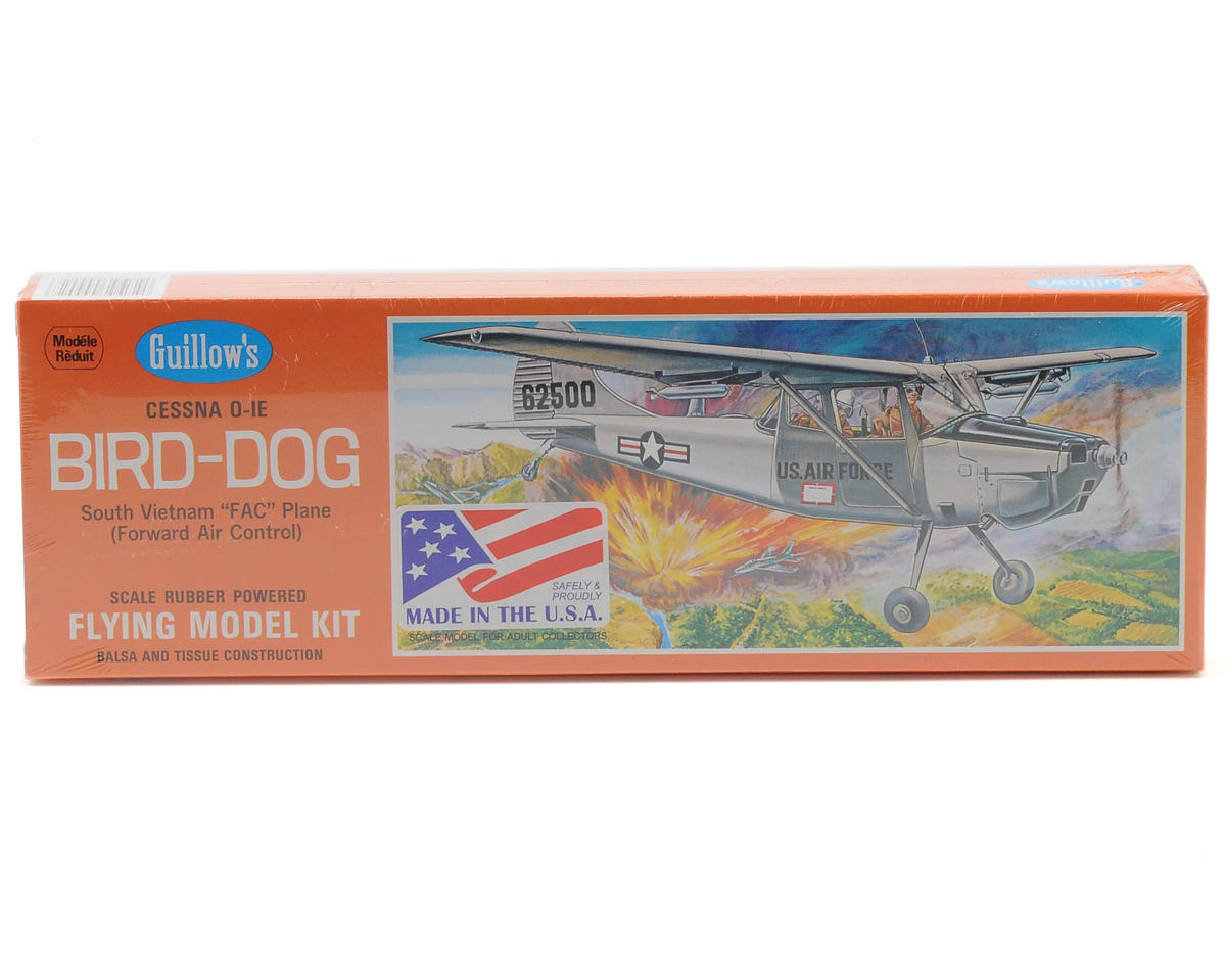 Cessna 0-1E Bird-Dog Rubber Powered Flying Model Kit by Guillow