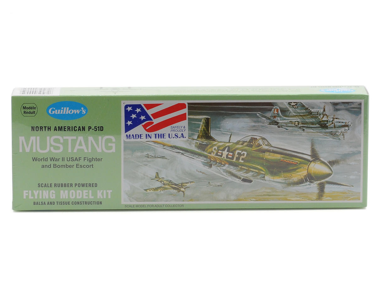 North American P-51D Mustang Rubber Powered Flying Model Kit