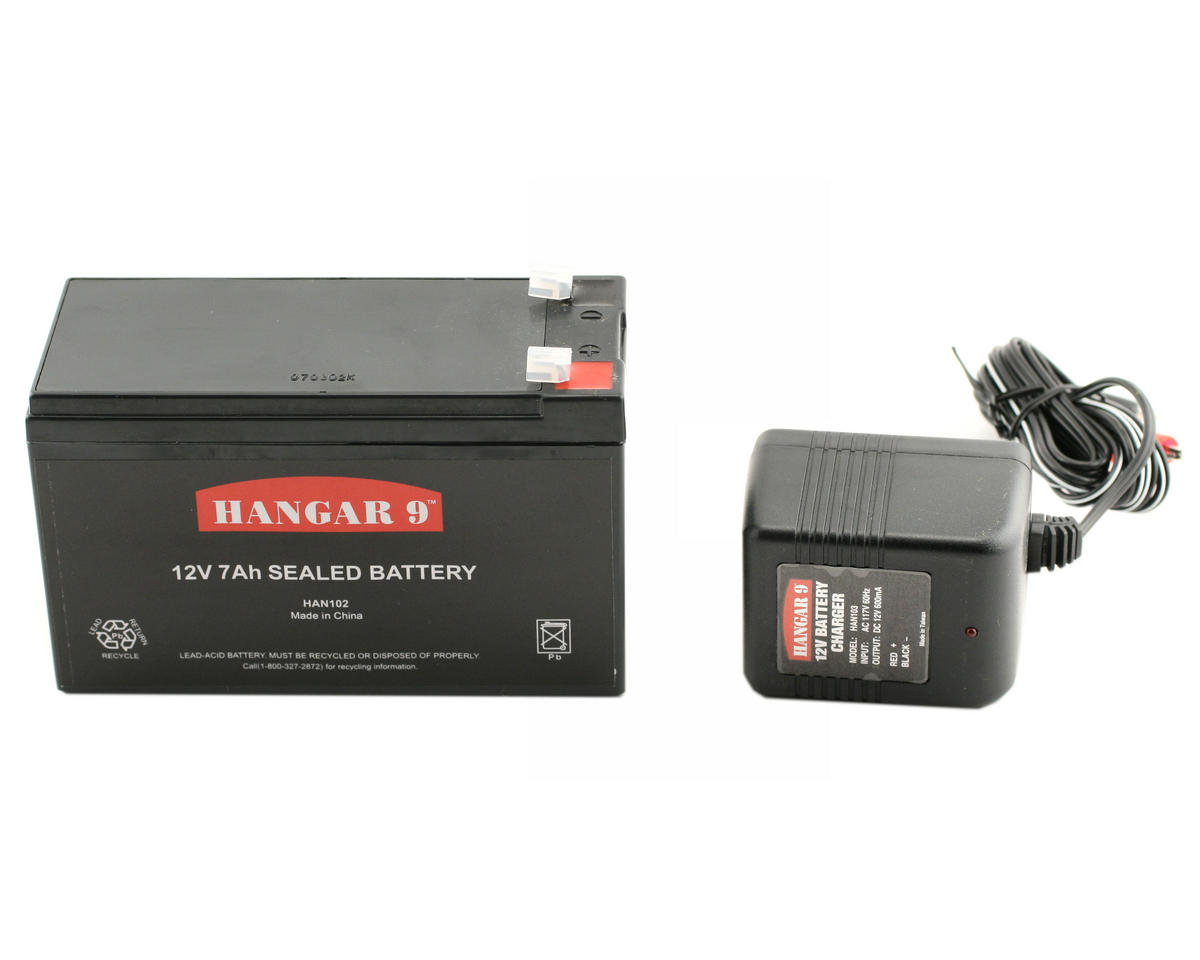 12V 7Ah Battery/Charger Combo by Hangar 9
