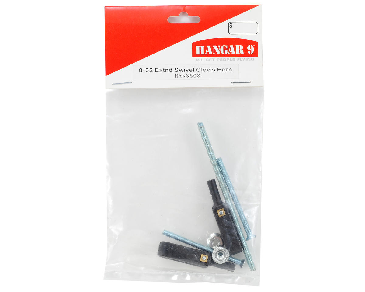 8-32 Extended Swivel Clevis Horn Set (2) by Hangar 9