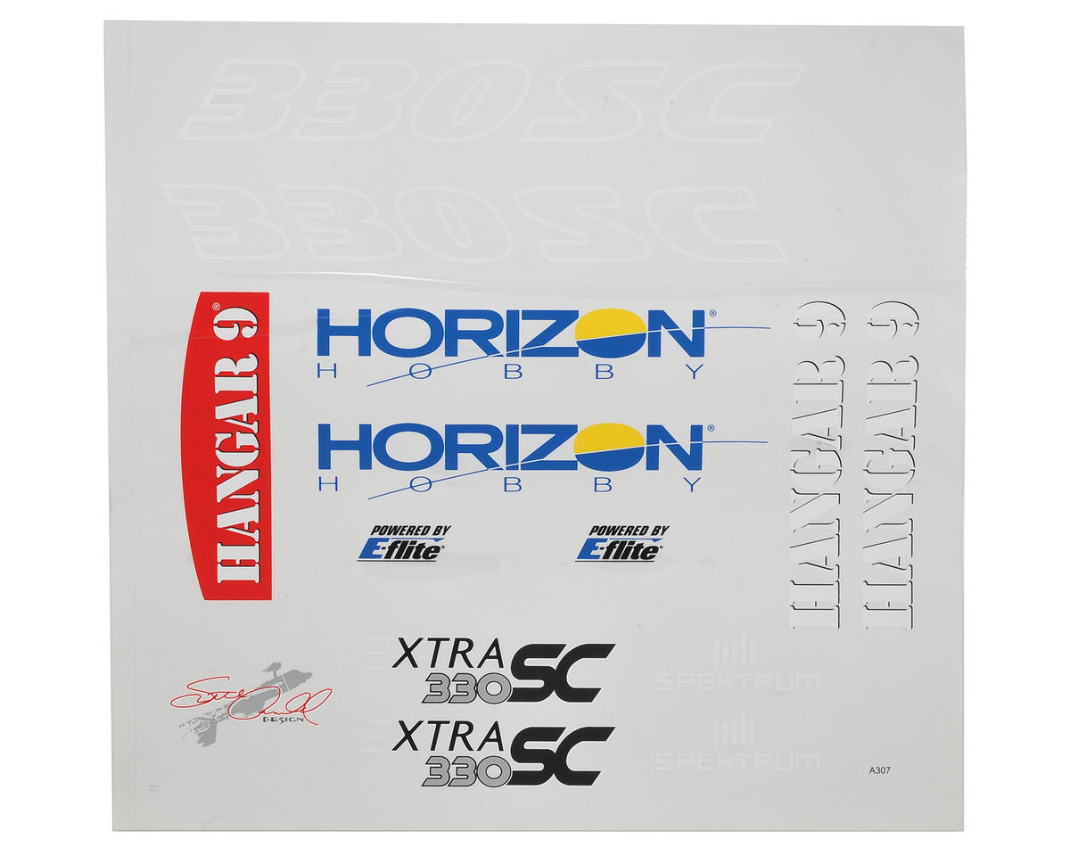 Hangar 9 Extra 330SC 60e Decal Sheet