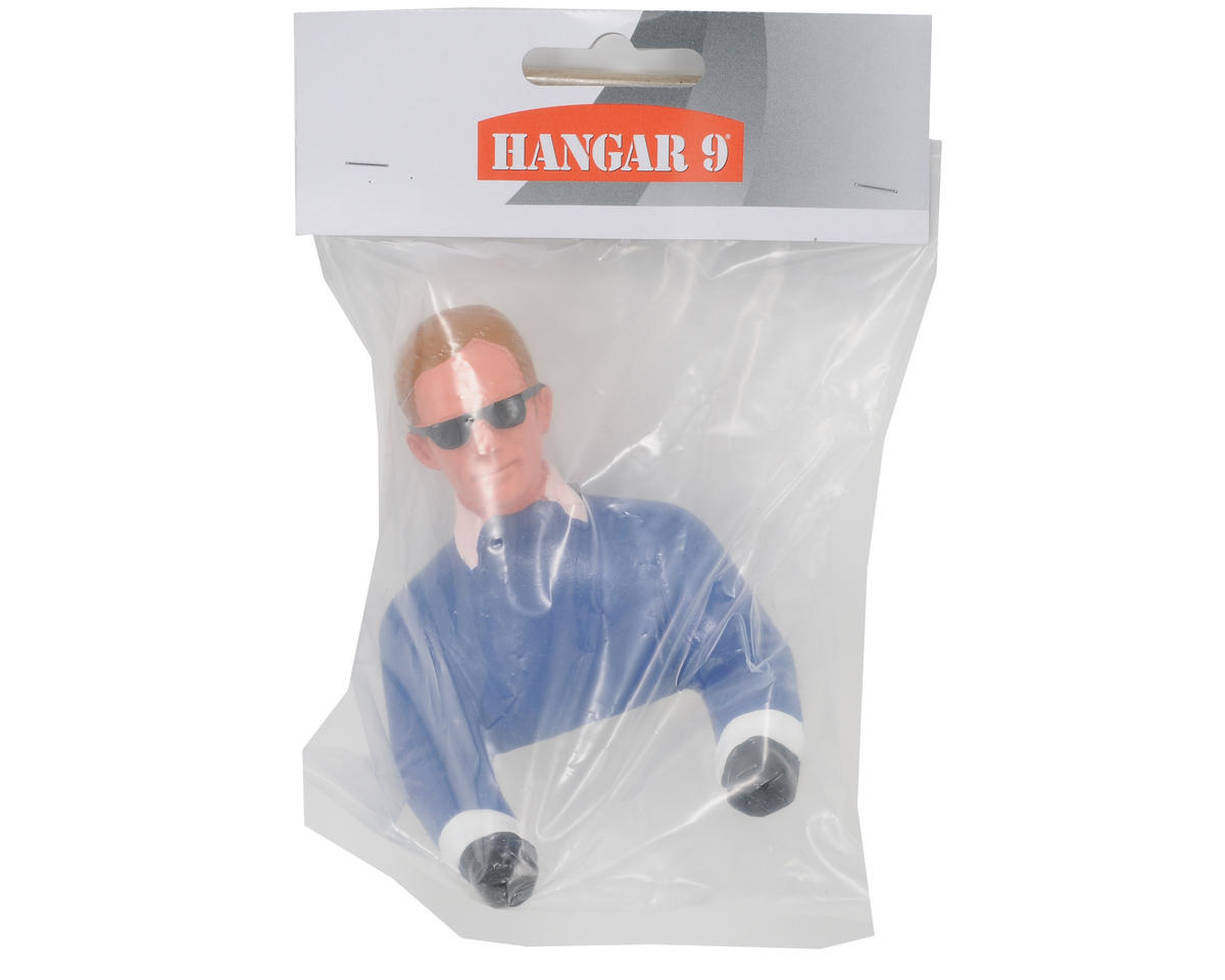 Hangar 9 Pilot Figure w/Arms & Sunglasses (Blue) (1/9)