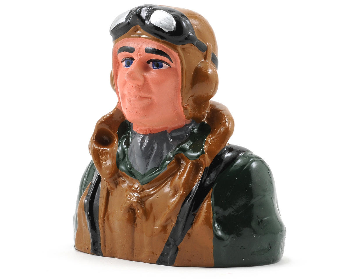 "Hangar 9 Pilot ""Military"" Figure w/Vest, Helmet & Goggles (1/9)"