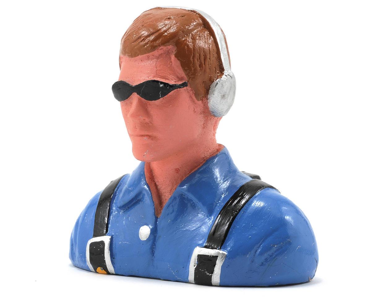 """Civilian"" Pilot Figure w/Headset & Sunglasses (1/6) by Hangar 9"