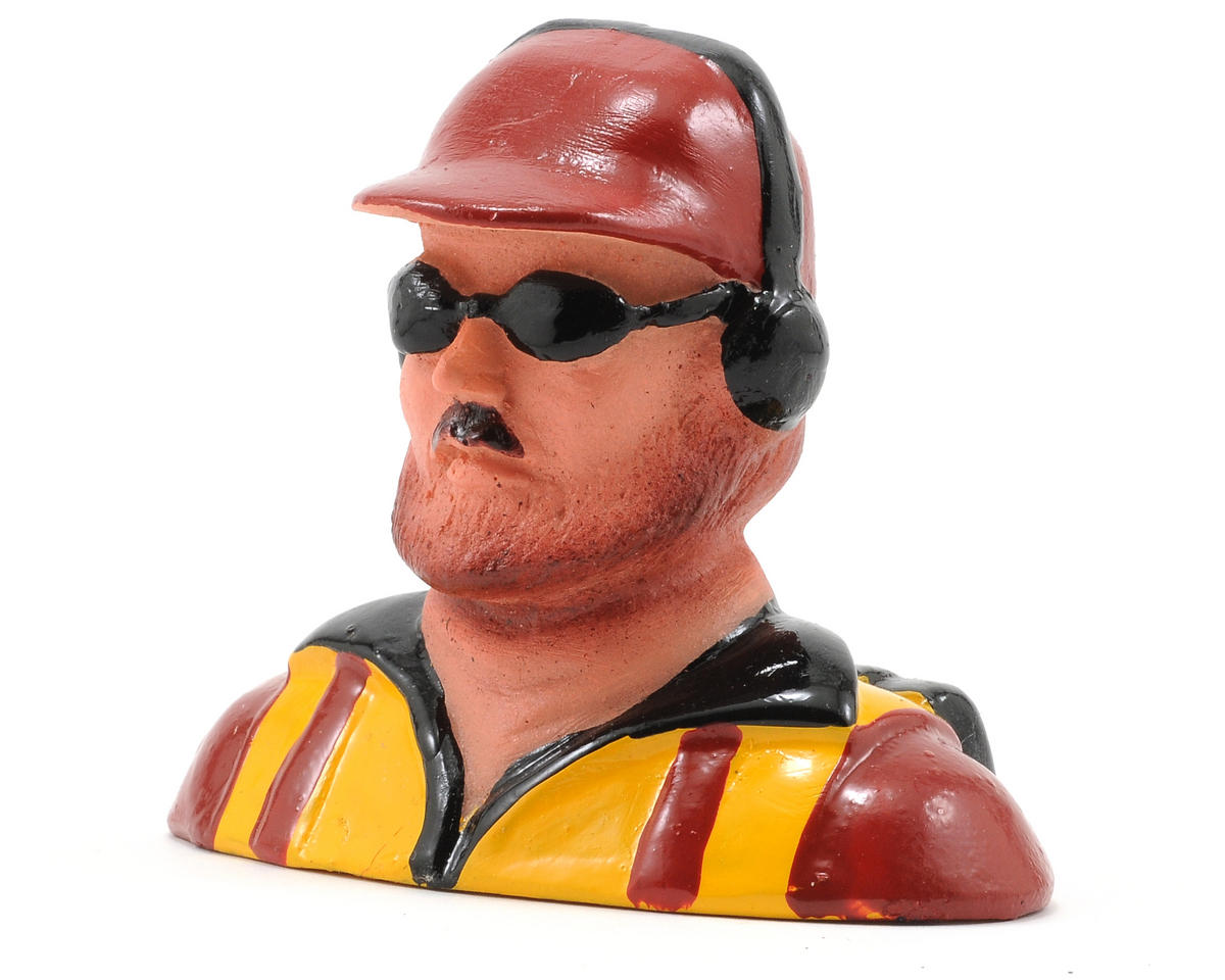 Hangar 9 Pilot Figure w/Beard, Hat, Headphones & Sunglasses (1/6)