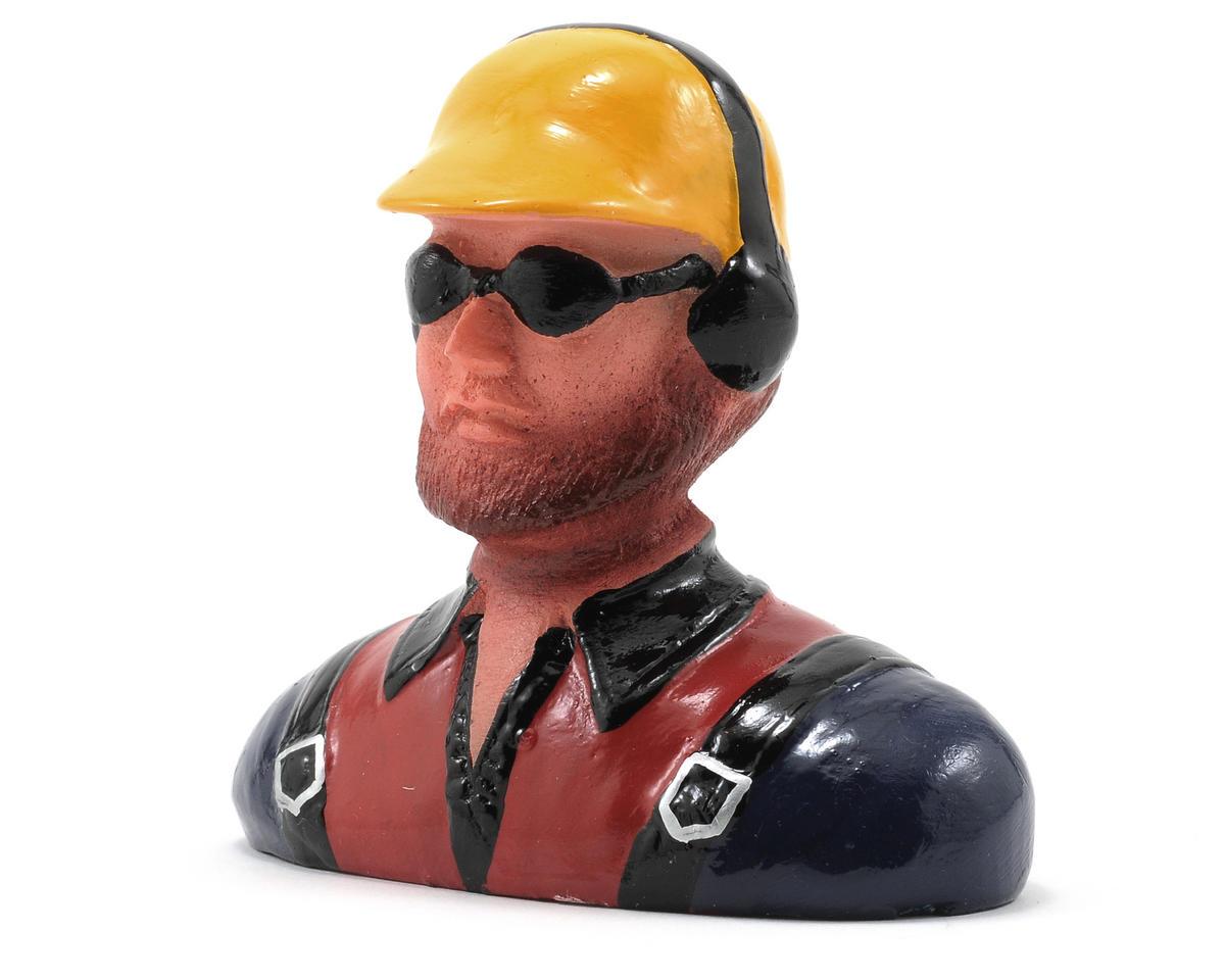 Hangar 9 Pilot Figure w/Beard, Hat, Headphones & Sunglasses (1/6)