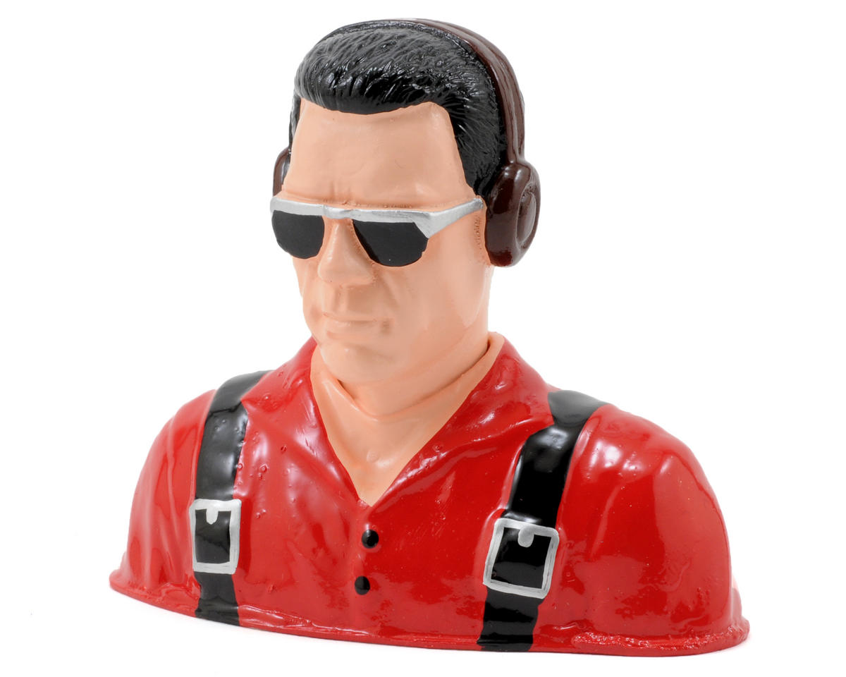 """Civilian"" Pilot Figure w/Headphones & Sunglasses (Red) (1/5) by Hangar 9"