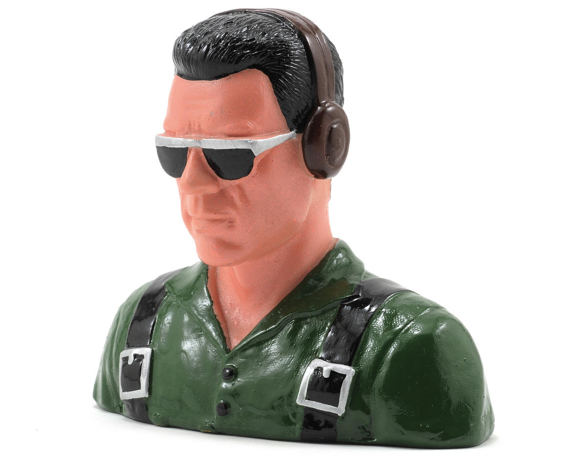"Hangar 9 ""Civilian"" Pilot Figure w/Headphones & Sunglasses (Green) (1/5)"