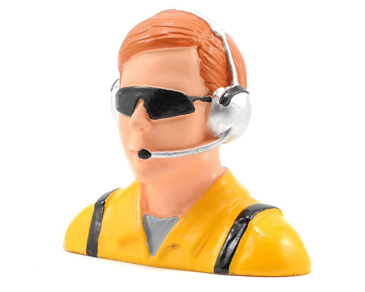 """Civilian"" Pilot Figure w/Headset, Mic & Sunglasses (Yellow) (1/4) by Hangar 9"