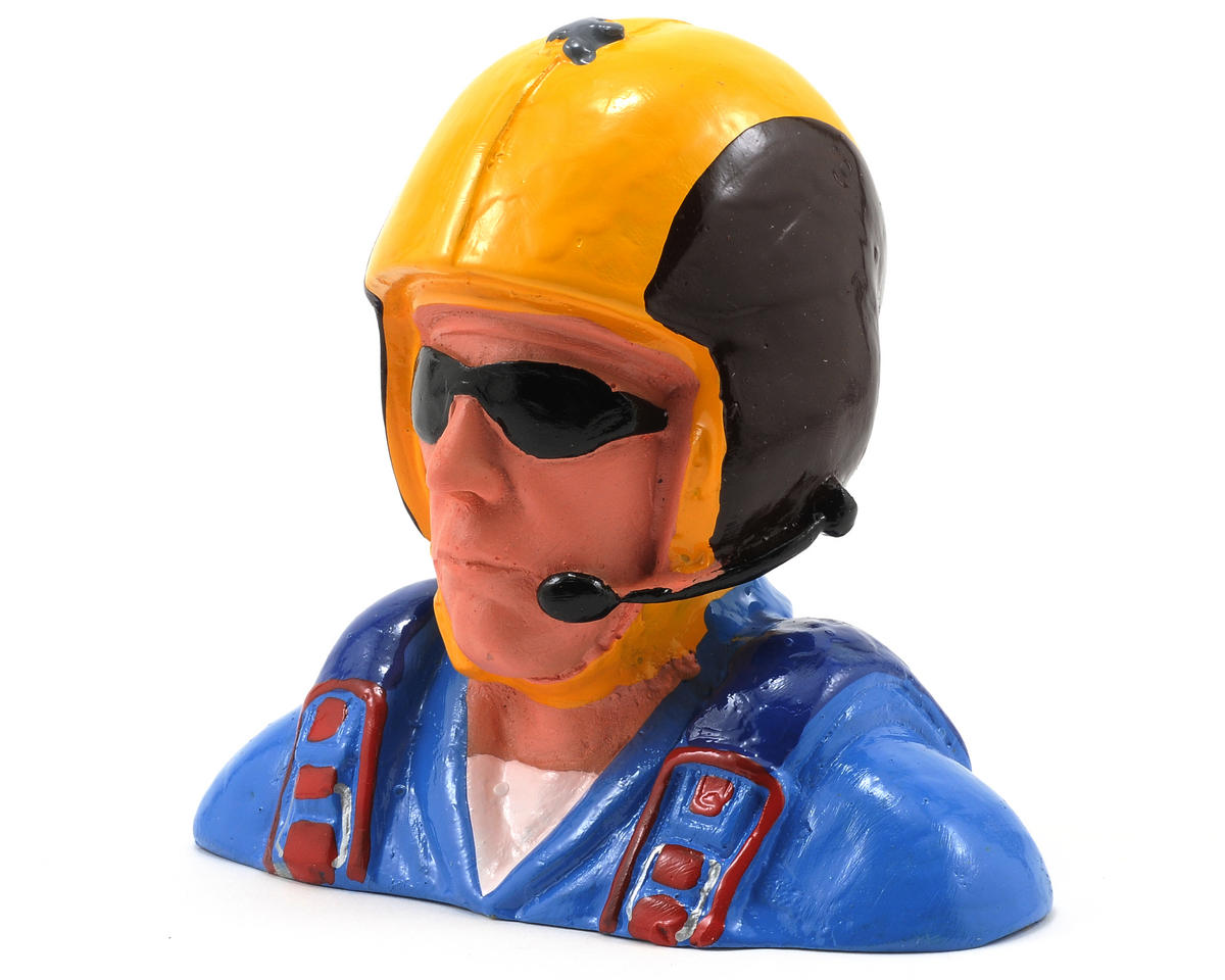 """Civilian"" Pilot Figure w/Aerobatic Helmet, Mic & Sunglasses (1/4) by Hangar 9"