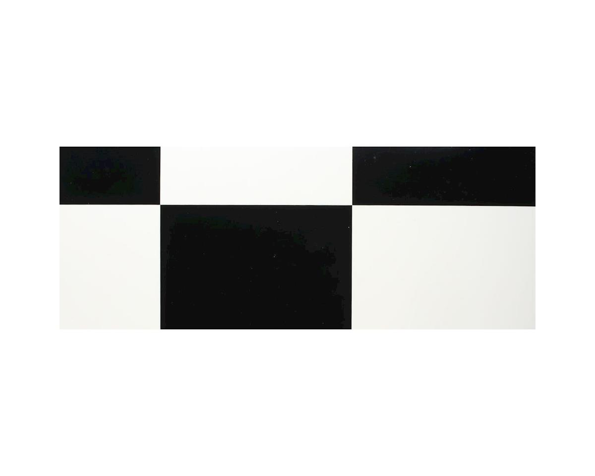 "Hangar 9 UltraCote, 1/2"" Squares White/Blk"