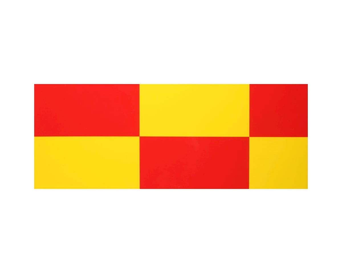 """UltraCote, 4"""" Squares Yellow/Red by Hangar 9"""