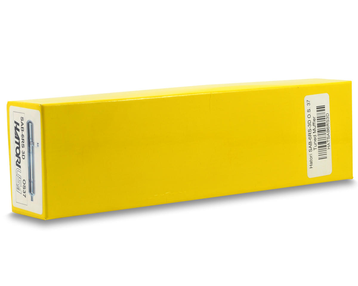 Hatori SAB-6RS-3D Tuned Muffler (O.S. .37)