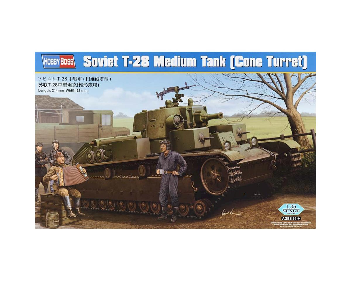 HY83855 1/35 Soviet T-28 Medium Tank Cone Turret