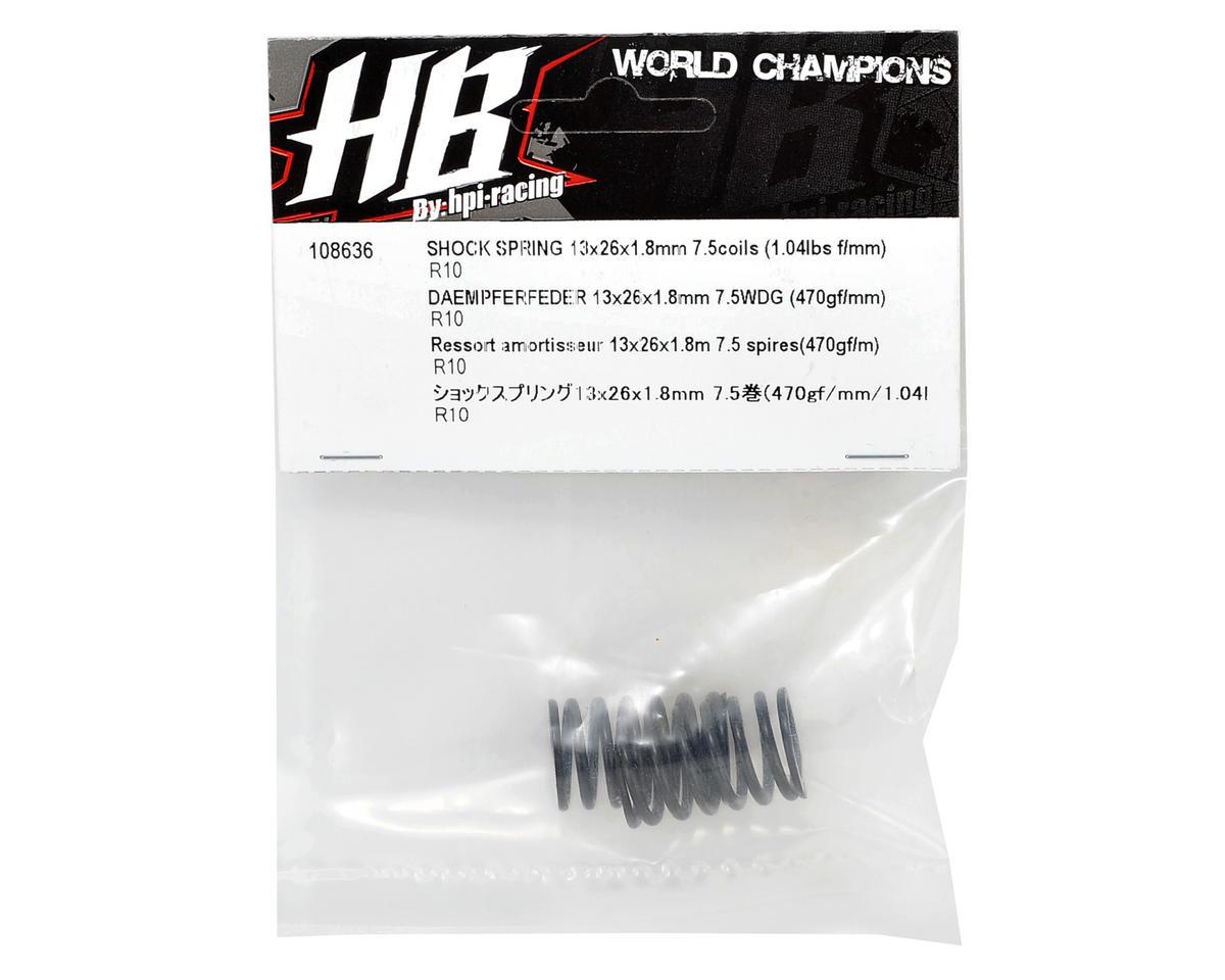 HB Racing 13x26x1.8mm Rear Shock Spring Set (2) (7.5 Coils)
