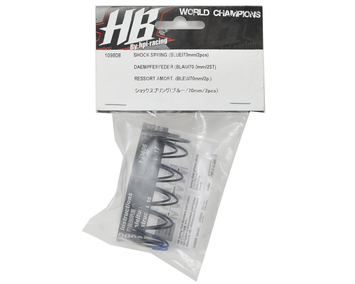 HB Racing 68mm Big Bore Shock Spring (Blue) (2) (68.9gF)