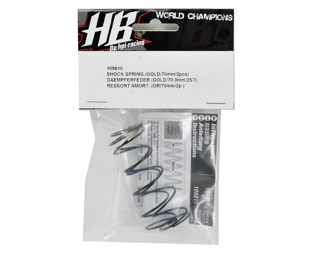 HB Racing 68mm Big Bore Shock Spring (Gold) (2) (79.6gF)