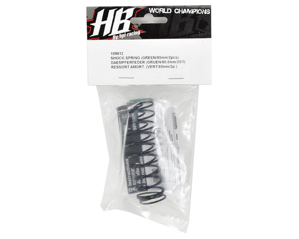 HB Racing 83mm Big Bore Shock Spring (Green) (2) (54.7gF)