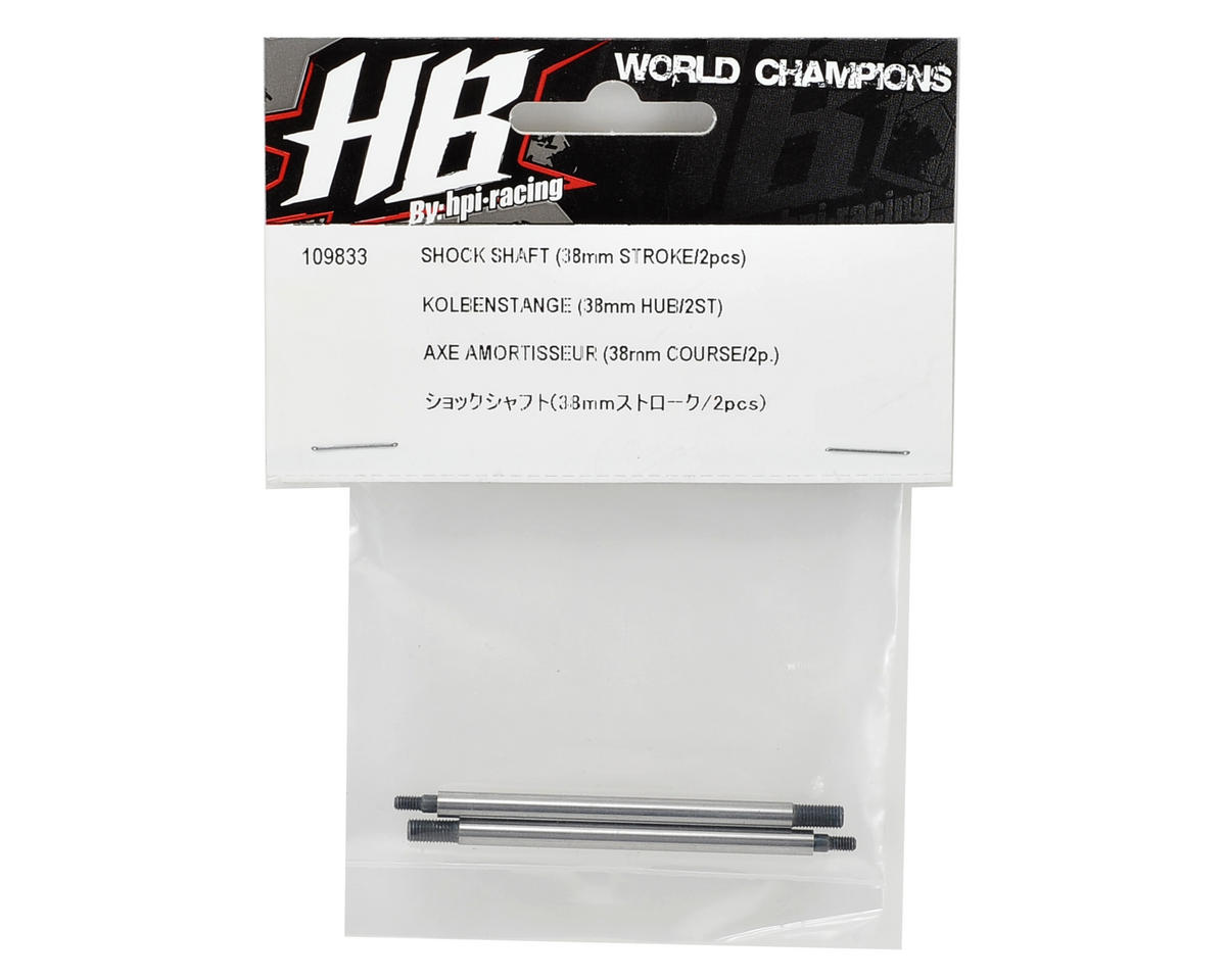 38mm Rear Shock Shaft (2) by HB Racing