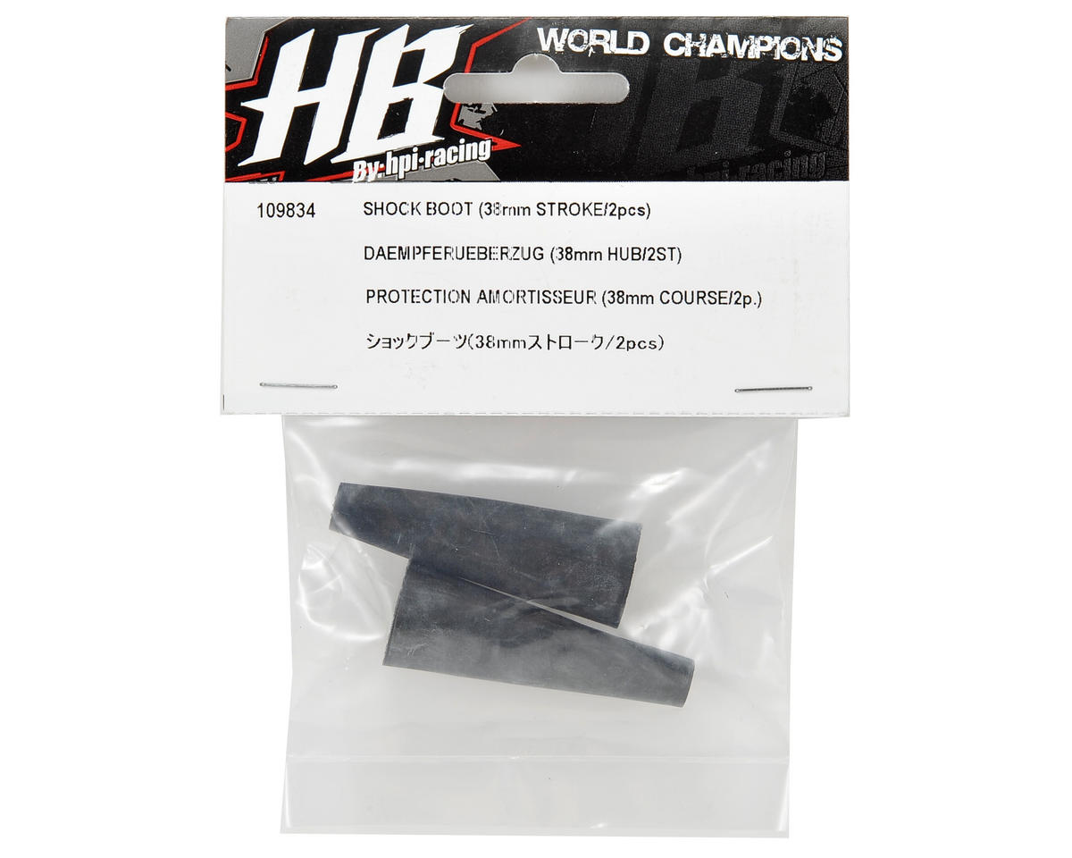 38mm Rear Shock Boot (2) by HB Racing