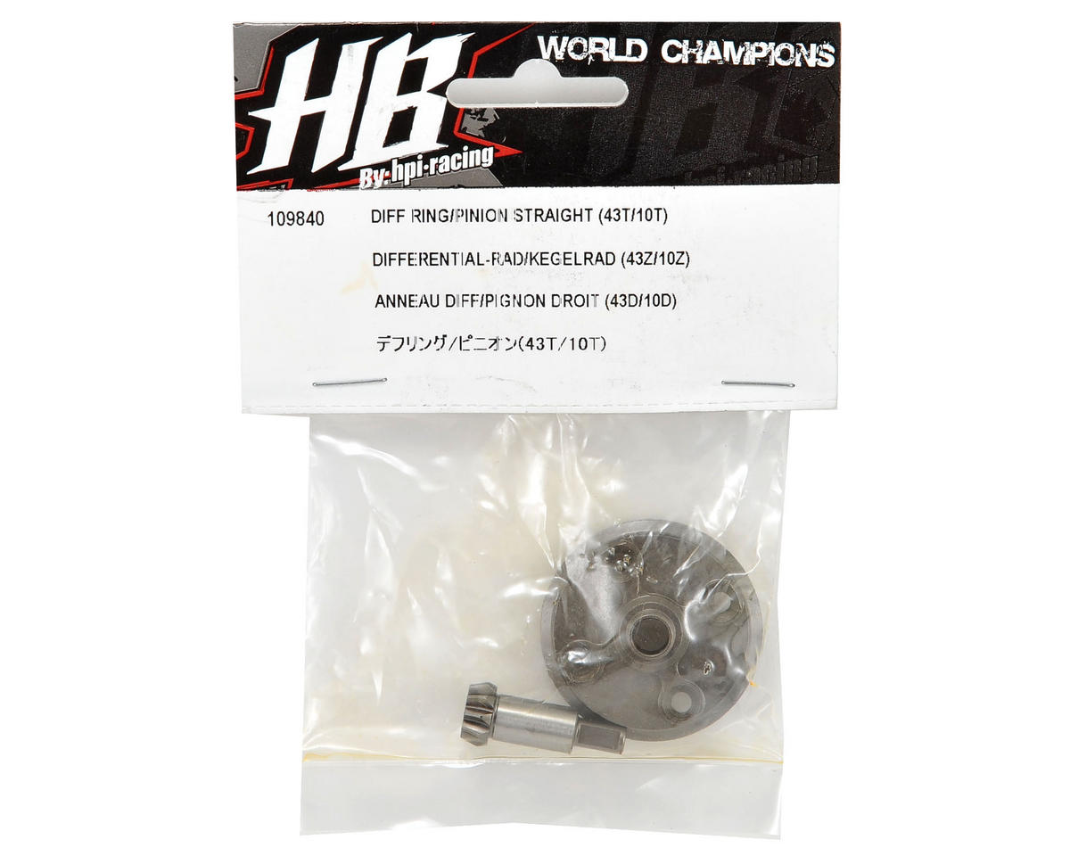 HB Racing Differential Ring & Pinion Gear Set (43T/10T)