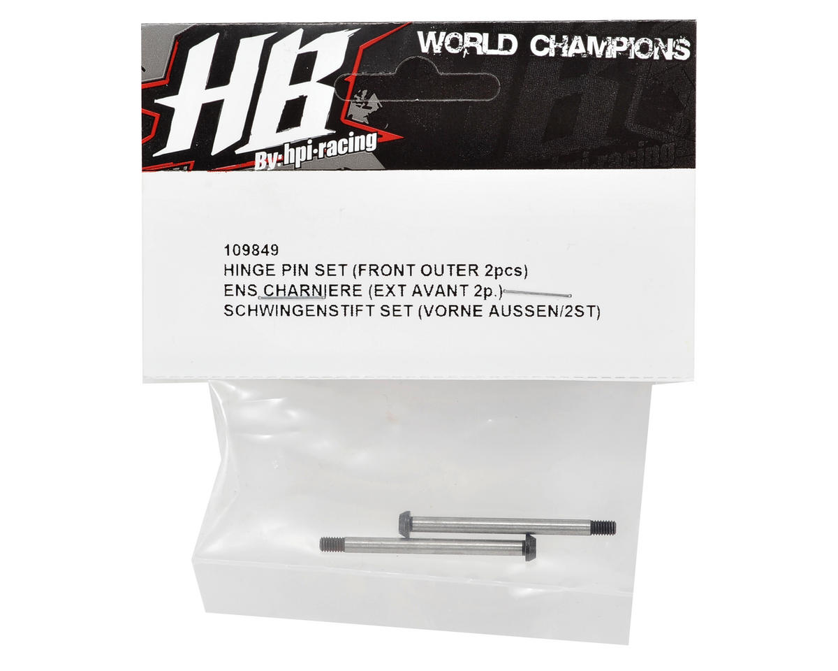 HB Racing Front Outer Hinge Pin Set (2)