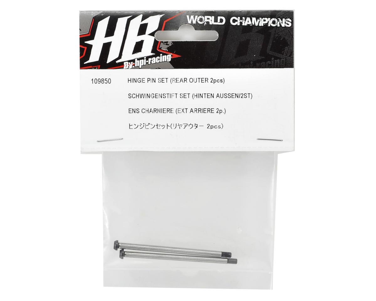 HB Racing Rear Outer Hinge Pin Set (2)