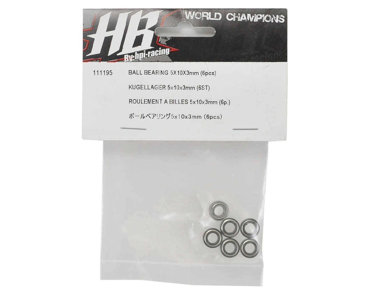HB Racing 5x10x3mm DCJ V2 Ball Bearing (6)