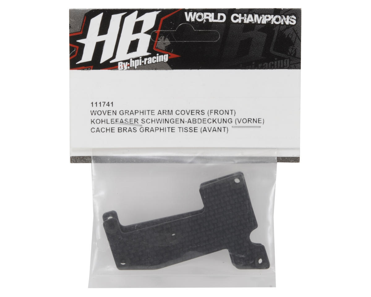 HB Racing Woven Graphite Front Arm Covers