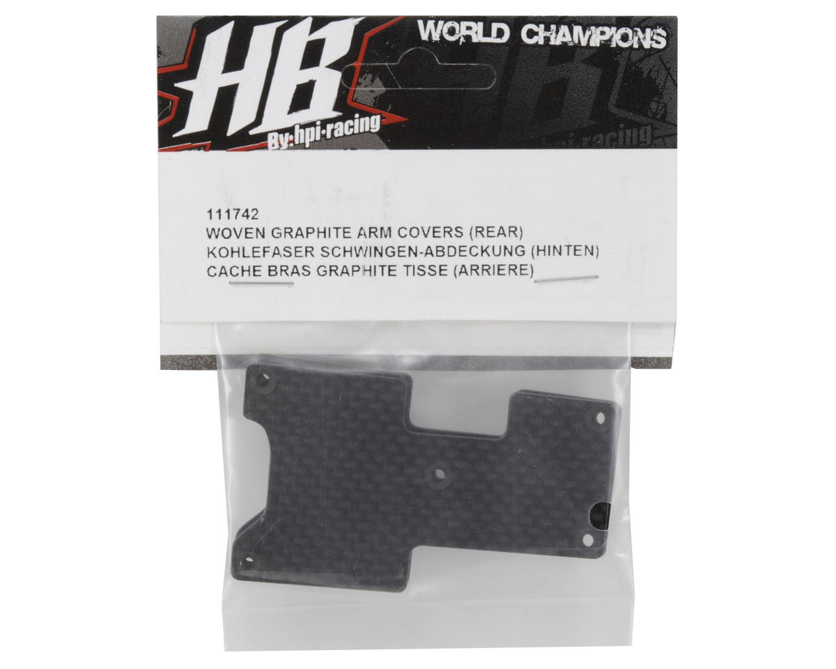 HB Racing Woven Graphite Rear Arm Covers