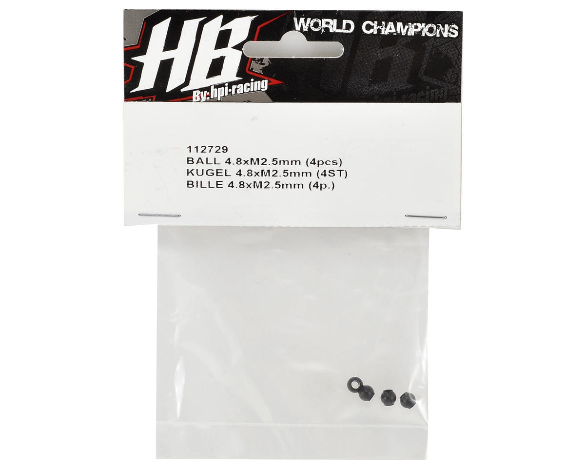 HB Racing 4.8x2.5mm Ball (4)