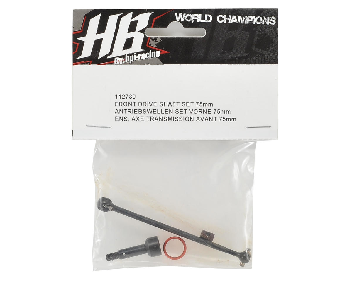 HB Racing 75mm Front Drive Shaft Set