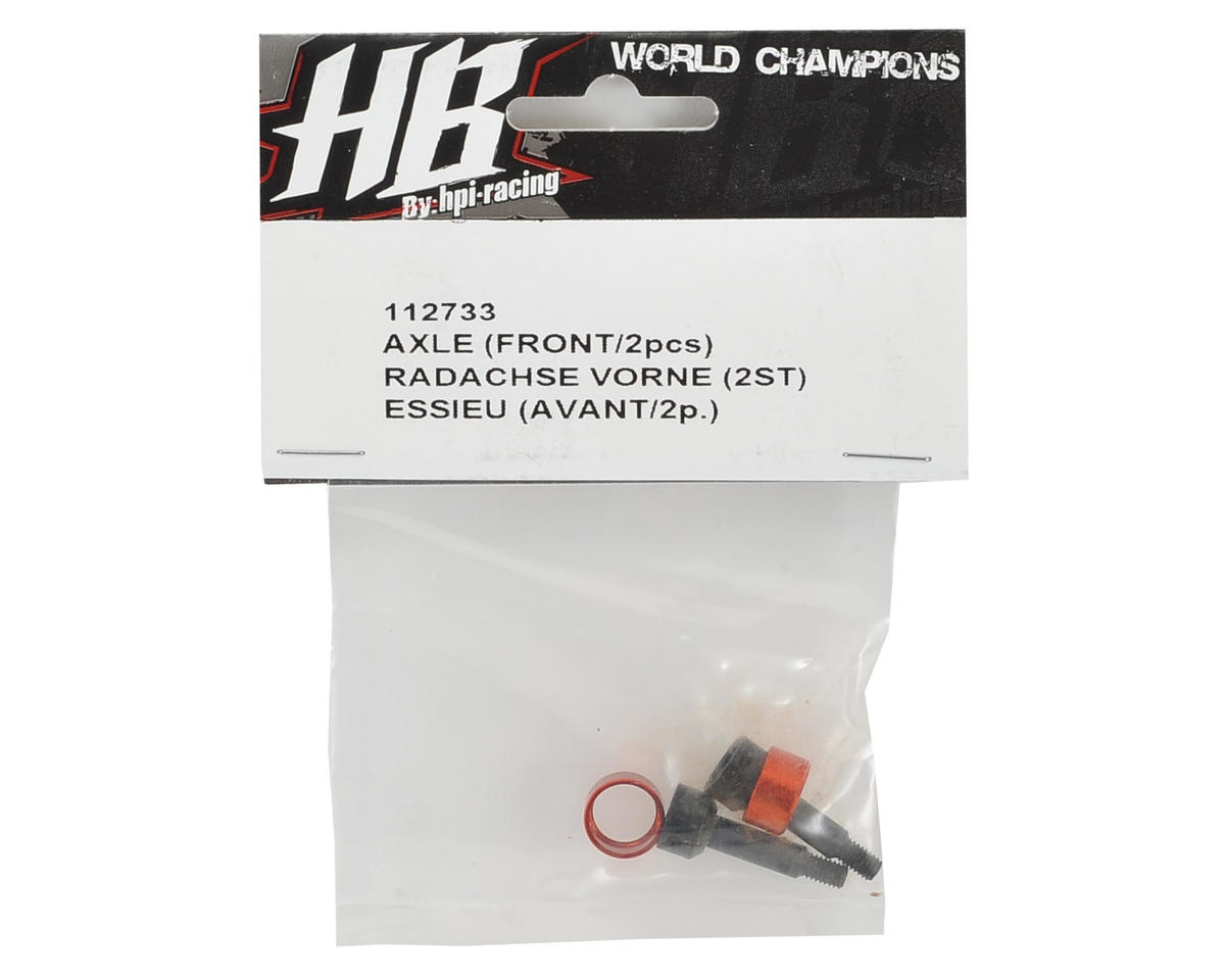 Front Axle (2) by HB Racing