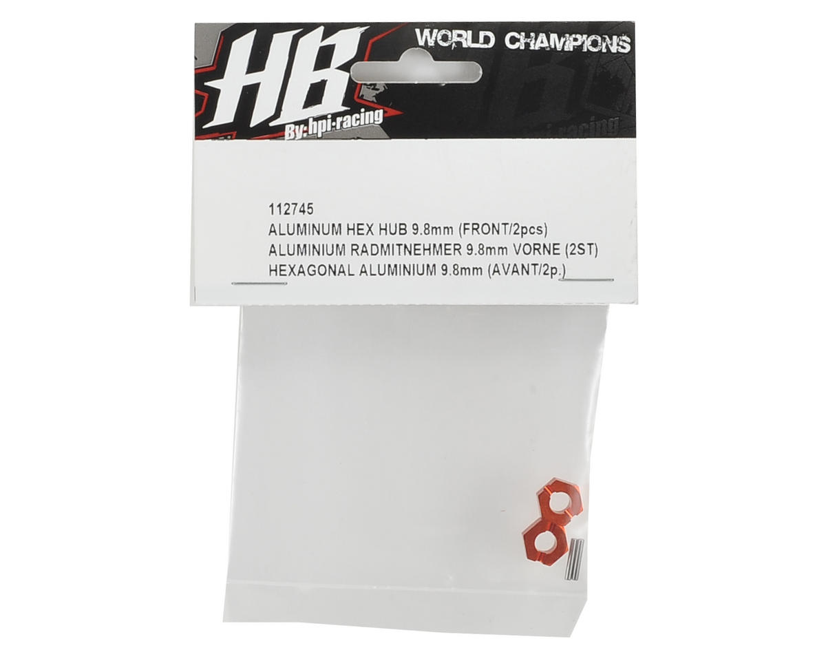 HB Racing 9.8mm Aluminum Hex Hub Front (2)