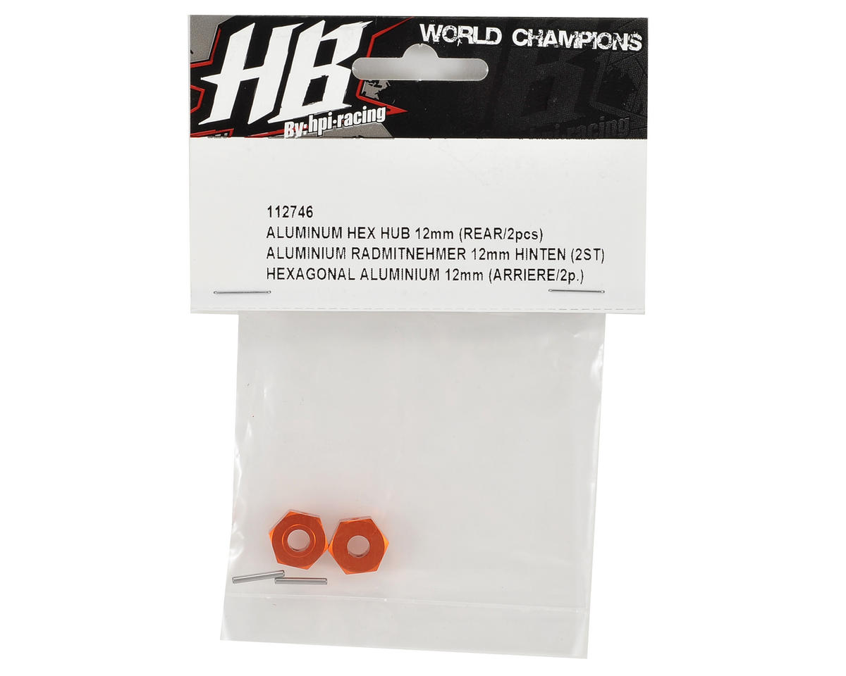 HB Racing 12mm Rear Aluminum Hex Hub (2)