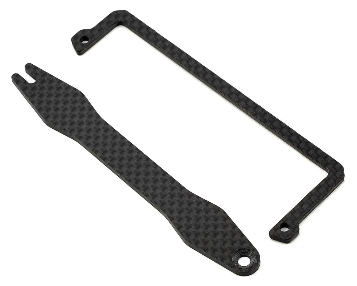 HB Racing D413 Carbon Battery Holder Set (Shorty)