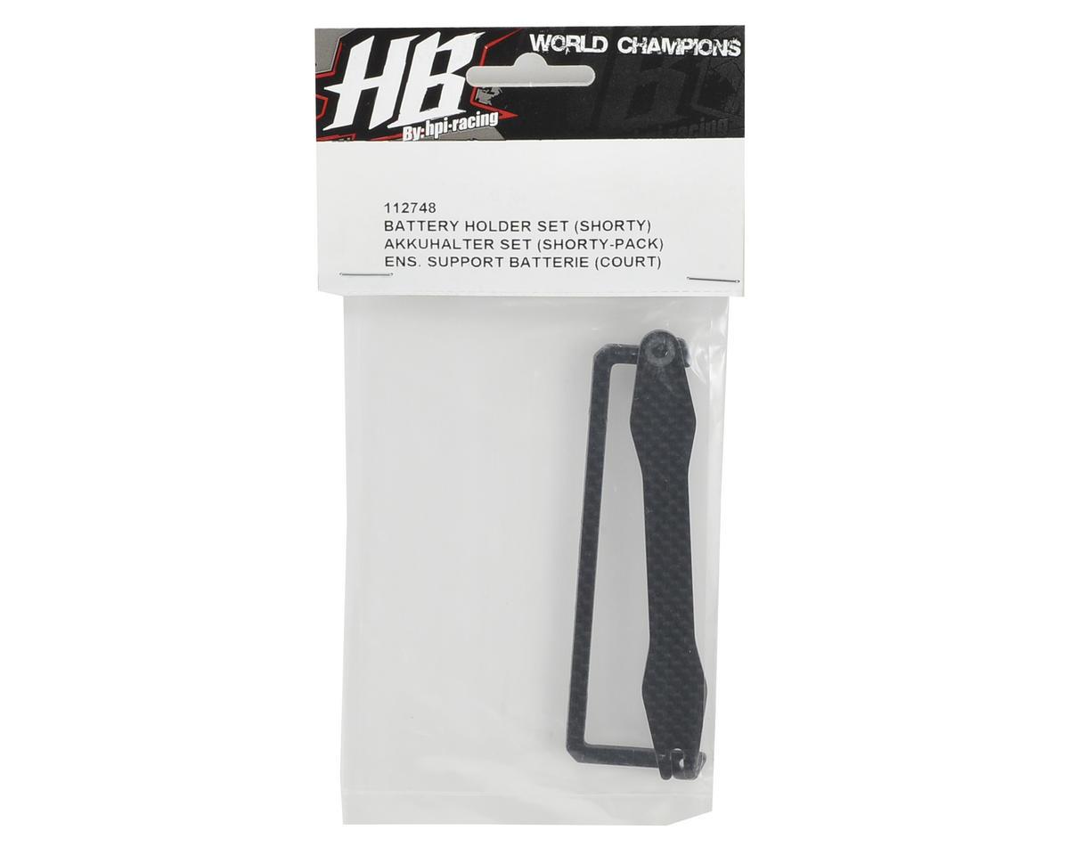 HB Racing Carbon Battery Holder Set (Shorty)