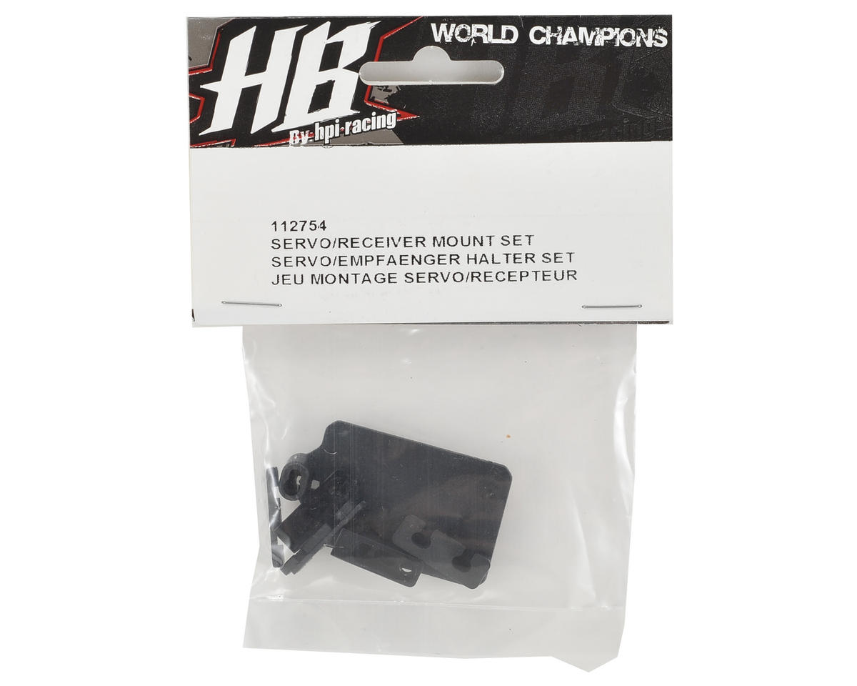 HB Racing Servo/Receiver Mount Set