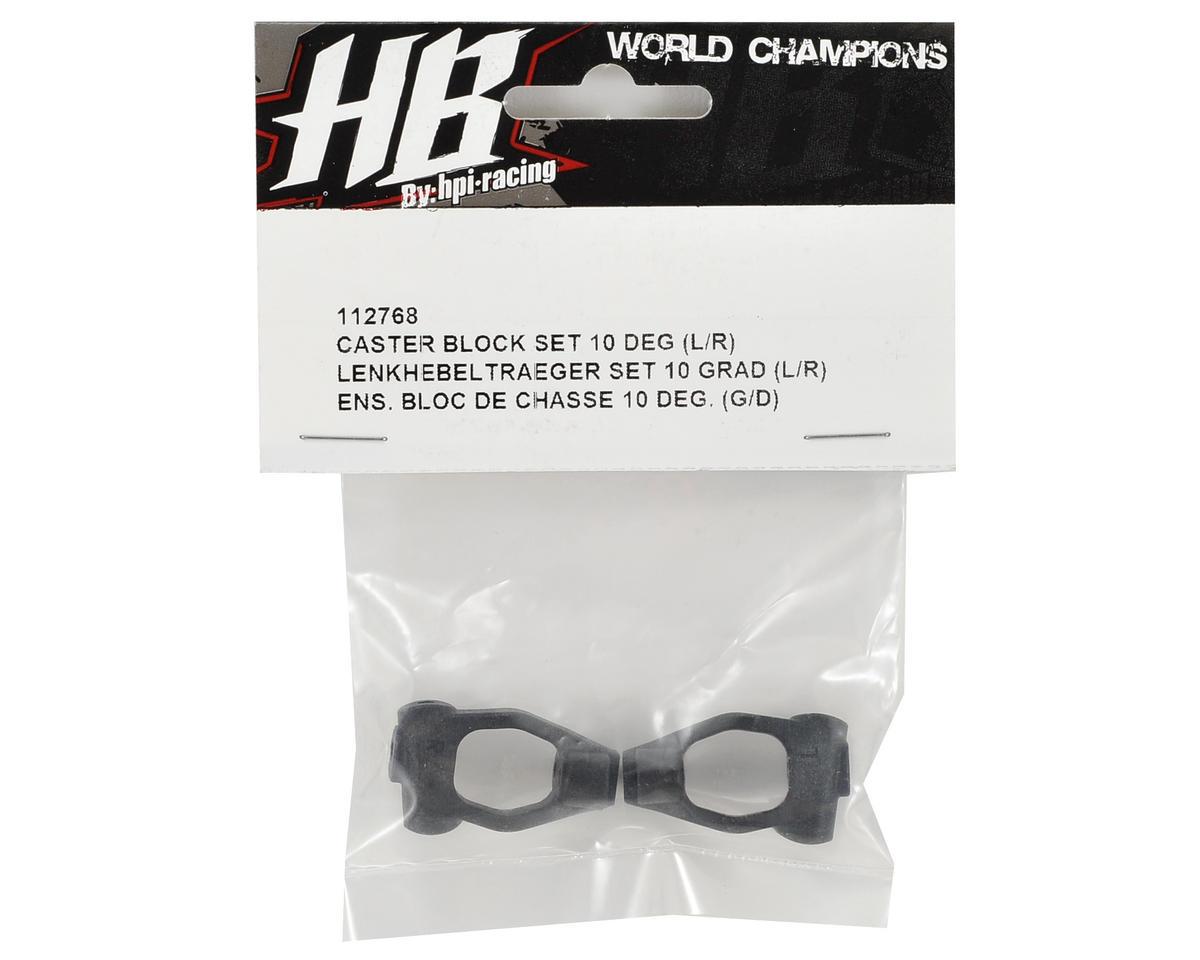 HB Racing 10° Caster Block Set