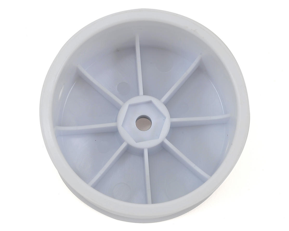 HB Racing 12mm Hex 1/10 Buggy Rear Wheels (2) (White) (D216/D413)